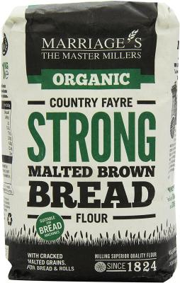 Marriages Organic Country Fayre Malted Brown Flour